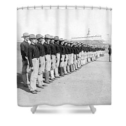 Puerto Ricans Serving In The American Colonial Army - C 1899 Shower Curtain by International  Images