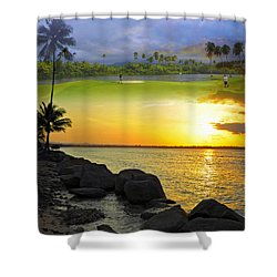 Puerto Rico Montage 3 Shower Curtain by Stephen Anderson