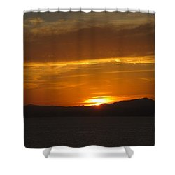 Shower Curtain featuring the photograph Puerto Vallarta Sunset by Marilyn Wilson