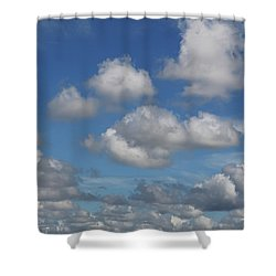 Puff Clouds Shower Curtain