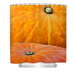 Pumpkins Background Shower Curtain by Carlos Caetano