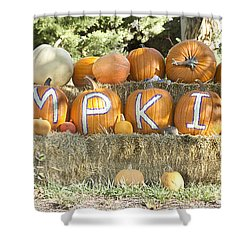 Pumpkins P U M P K I N S Shower Curtain by James BO  Insogna