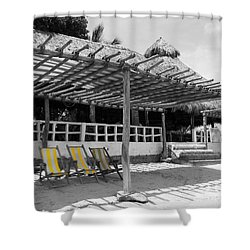 Shower Curtain featuring the photograph Punta Mita North Of Puerto Vallarta Mexico Three Amigos Color Splash Black And White by Shawn O'Brien