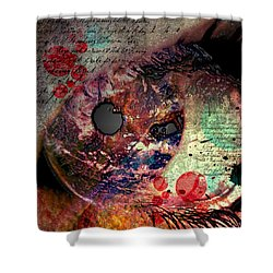 Pupil Of Pleasures  Shower Curtain by Empty Wall