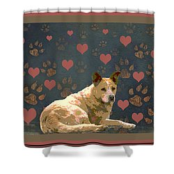 Puppy Love Shower Curtain by One Rude Dawg Orcutt