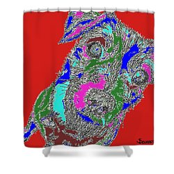 Pure Energy Shower Curtain by Salvadore Delvisco