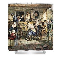Puritans: Punishment, 1670s Shower Curtain by Granger