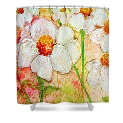 Purity Of White Flowers Shower Curtain by Ashleigh Dyan Bayer