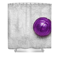 Purple Ball Cat Toy Shower Curtain by Andee Design