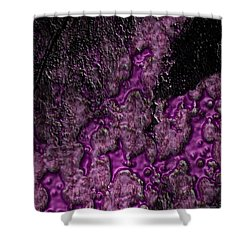 Purple Burning Shower Curtain