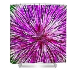 Purple Flower Fractal Shower Curtain