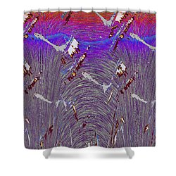 Purple Haze Shower Curtain by Tim Allen