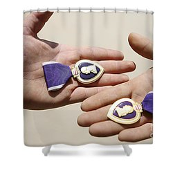 Purple Heart Recipients Display Shower Curtain by Stocktrek Images