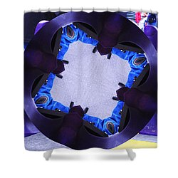 Shower Curtain featuring the photograph Purple Magic Fingers Chair by Kym Backland