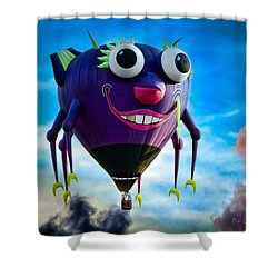 Purple People Eater Shower Curtain by Bob Orsillo