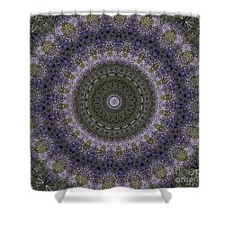 Shower Curtain featuring the photograph Purple Pleasure Abstract by Clare Bambers
