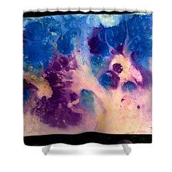 Purple Skies Shower Curtain by Tis Art