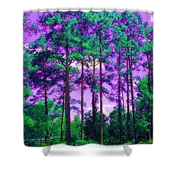Shower Curtain featuring the photograph Purple Sky by George Pedro