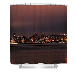 Purple Sky Morning Shower Curtain