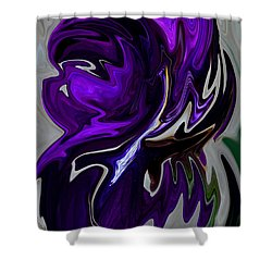 Purple Swirl Shower Curtain by Karen Harrison