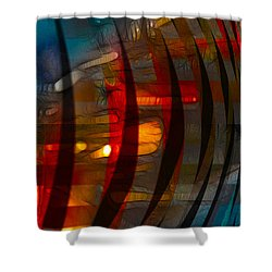 Pushing Paint  Shower Curtain by Stuart Turnbull