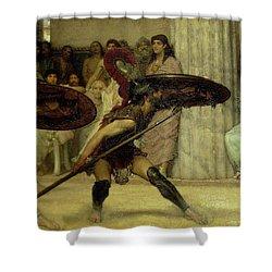 Pyrrhic Dance Shower Curtain by Sir Lawrence Alma-Tadema