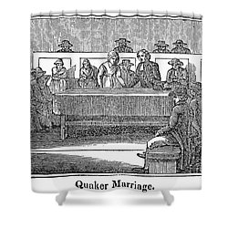 Quaker Marriage, 1842 Shower Curtain by Granger