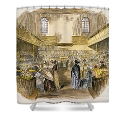 Quaker Meeting, 1843 Shower Curtain by Granger
