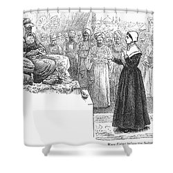 Quaker Missionary, 1658 Shower Curtain by Granger