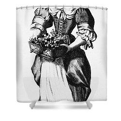 Quaker Woman, 17th Century Shower Curtain by Granger