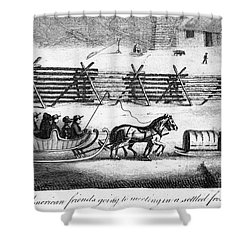 Quakers Going To Meeting Shower Curtain by Granger