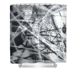 Shower Curtain featuring the painting Quantum Light by Chriss Pagani