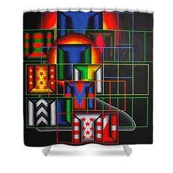 Quazar Shower Curtain by Mark Jones