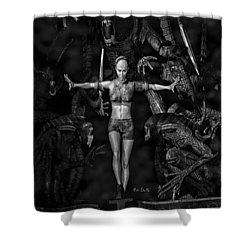 Question Of Balance Shower Curtain by Bob Orsillo
