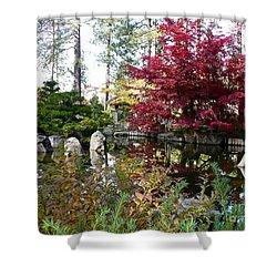 Quiet Autumn Pond Shower Curtain by Carol Groenen
