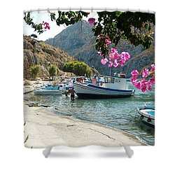 Quiet Cove Shower Curtain by Therese Alcorn