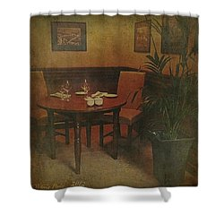 Quiet Nook In Hotel Dining Room Shower Curtain