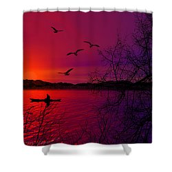 Quietude Shower Curtain by Lourry Legarde
