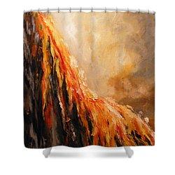 Quite Eruption Shower Curtain