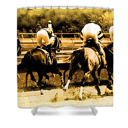 Shower Curtain featuring the photograph Race To The Finish Line by Alice Gipson