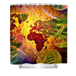 Races Of Race  Shower Curtain by Jerry Cordeiro