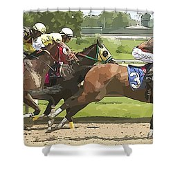 Shower Curtain featuring the photograph Racetrack Views by Alice Gipson