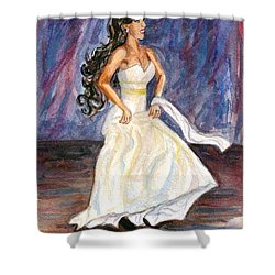 Shower Curtain featuring the painting Rachel by Clara Sue Beym
