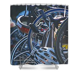 Racing Bikes Shower Curtain