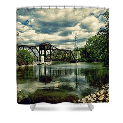 Rail Swing Bridge Shower Curtain by Joel Witmeyer