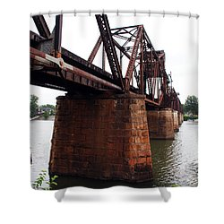 Shower Curtain featuring the photograph Railroad Bridge 1 by Kay Lovingood