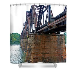 Shower Curtain featuring the photograph Railroad Bridge 2 by Kay Lovingood