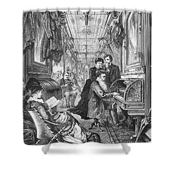 Railroad: Interior, 1876 Shower Curtain by Granger