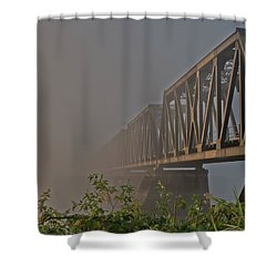 Railway Bridge Shower Curtain by Rod Wiens