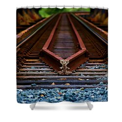 Railway Track Leading To Where Shower Curtain